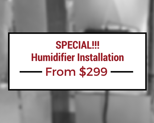Humidifier Installation Special
